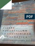 Rosanvallon, Pierre. 'Sociologia Del Reconocimiento' en La Legitimidad Democrática