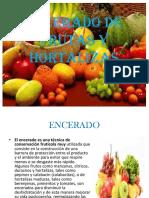 Encerado de Frutas y Hortalizas