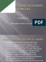 Docentes Especializados en Inglés