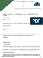 Rivkin Radler Frivolous Lawsuit vs RAPUZZI PALUMBO & ROSENBE