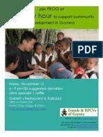 Friends & RPCVs of Guyana Fundraiser Flyer 11/09