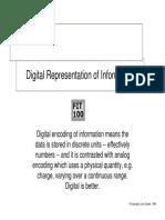 Digital Representation of Data