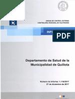 Informe Final 1.116-17 Departamento de Salud de La Municipalidad de Quillota
