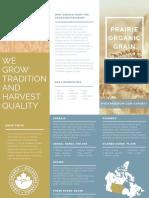 Prairie Organic Grain Brouchure
