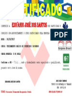 CERTIFICADO  - EDIVANIO
