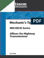 Mechanics Tips Md Hd b Series Allison on Highway Transmissions