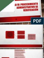 Unidad IV Procedimiento Administrativo de Verificacion (Mapa)