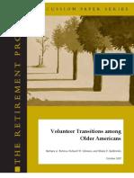 volunteer transitions