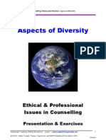 Aspects of Diversity :- Ethical & Professional issues for Counselling
