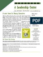 Summer 2007 Servant Leader Center of Toledo Newsletter