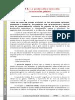 Tema 01. La Producción y Selección de Materias Primas