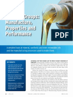 Base Oil Groups Manufacture Properties and Performance