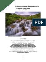 Public Lands Transfer Petition Summary