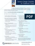 Seresco Pool Design Checklist 2011