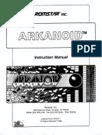Arkanoid, instruction manual