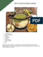 Pejelagarto Con Plátano Verde