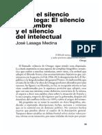 Sobre El Silencio de Ortega El Silencio Del Hombre y El Silencio Del Intelectual