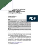 Richard, Suzanne. L'Analyse de Contenu Pour La Recherche en Didactique de La Littérature