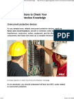 20 Simple Questions to Check Your Overcurrent Protection Knowledge
