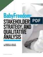 Baby Freedom Case Study 2018