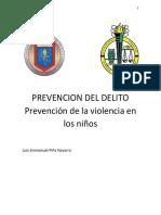 Prevención de la violencia en los niños.