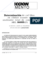 Determinacion de Cal Libre en Clinker Usando El Analizador Total de Cementos ARL 8600S