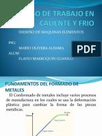 Diseño Proceso de Formacion en Caliente y Frio (victor terrones vasquez)