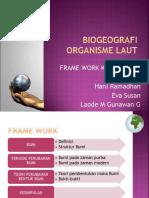 Framework Biogeografi organisme laut