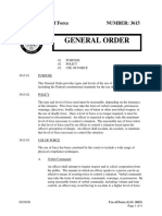 US Park Police - General Order on Use of Force
