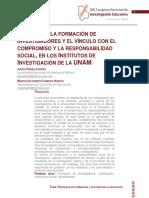 Analisis de La Formacion de Investigadores y El Vinculo Con El Compromiso y La Responsabilidad Social