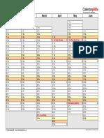Calendar 2018 Landscape 2 Pages Linear (1)