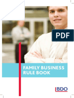 BDO Family Business Rule Book