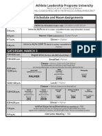 ALPs University Schedule March 2-4, 2018 at Mizzou