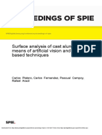 Surface Analysis of Cast Aluminum by Means of Artificial Vision and AI- Based Techniques