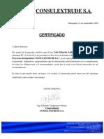Certificado Luis Andrade