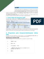 Eliminar Bloqueos SAP