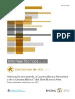 Informe Canasta Básica Total y Alimentaria - Indec