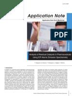 Nota de Aplicación- Uso Del ICP en La Ciencia Farmacéutica