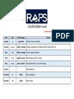 Calendário RAPS 2018