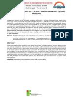 Artigo 1_utilização Do Arduino No Controle e Monitoramento de Nível de Líquido