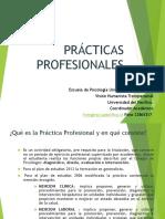 Presentación PRACTICAS PROFESIONALES. SEGUNDO SEMESTRE 2016