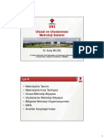 Ulusal Ve Uluslararasi Metroloji Sistemi