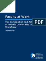 Rapport du Conseil des universités de l'Ontario (en anglais)