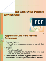 Hygiene and Care of the Patient's Envirnment