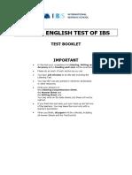 Sample SETI 2 Test
