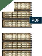 Charecter Sheet