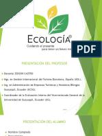 Ecologia I Parcial Msc. Edison Castro