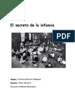 El Secreto de La Infancia Montessori