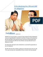 Ravi thanks MS for absolving him, PM and UNP from bond scam allegations.docx