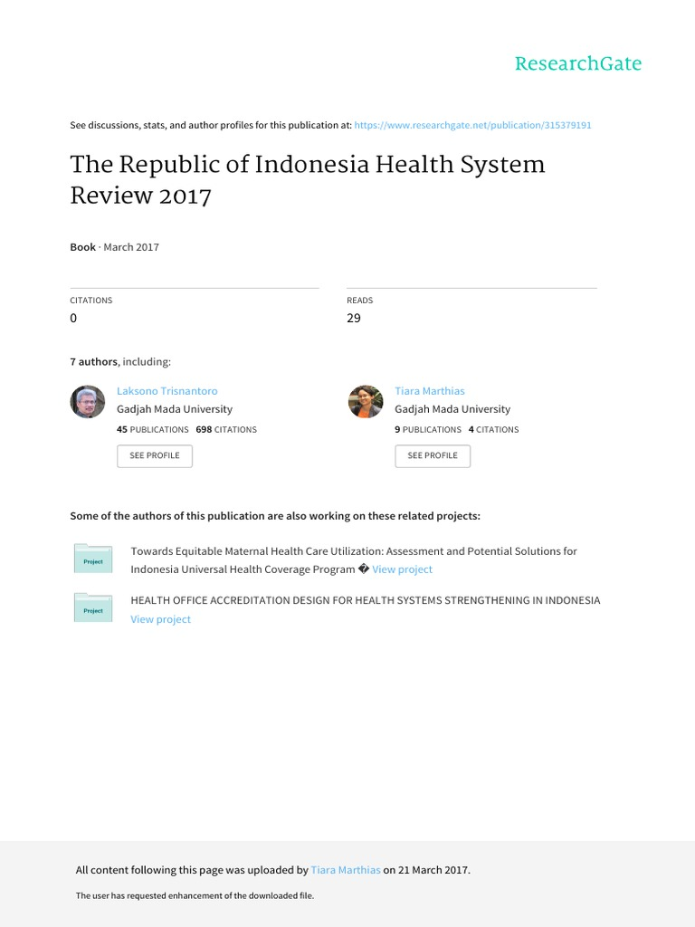 Indonesia Health System Review 2017 Pdf International Monetary